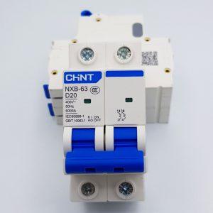 MCB 2P 6kA CHINT NXB-63 D20 (20A) và D40 (40A)