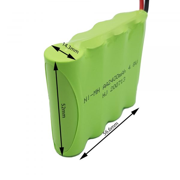 Pin sạc Ni-MH AA2400mAh 4.8V kèm cáp sạc 250mA USB