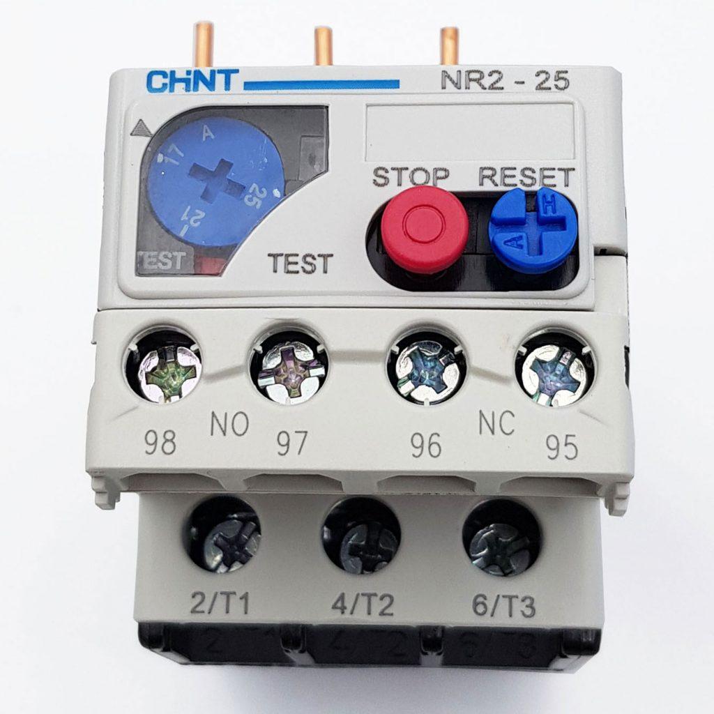 Rơle nhiệt 17-25A CHINT NR2-25