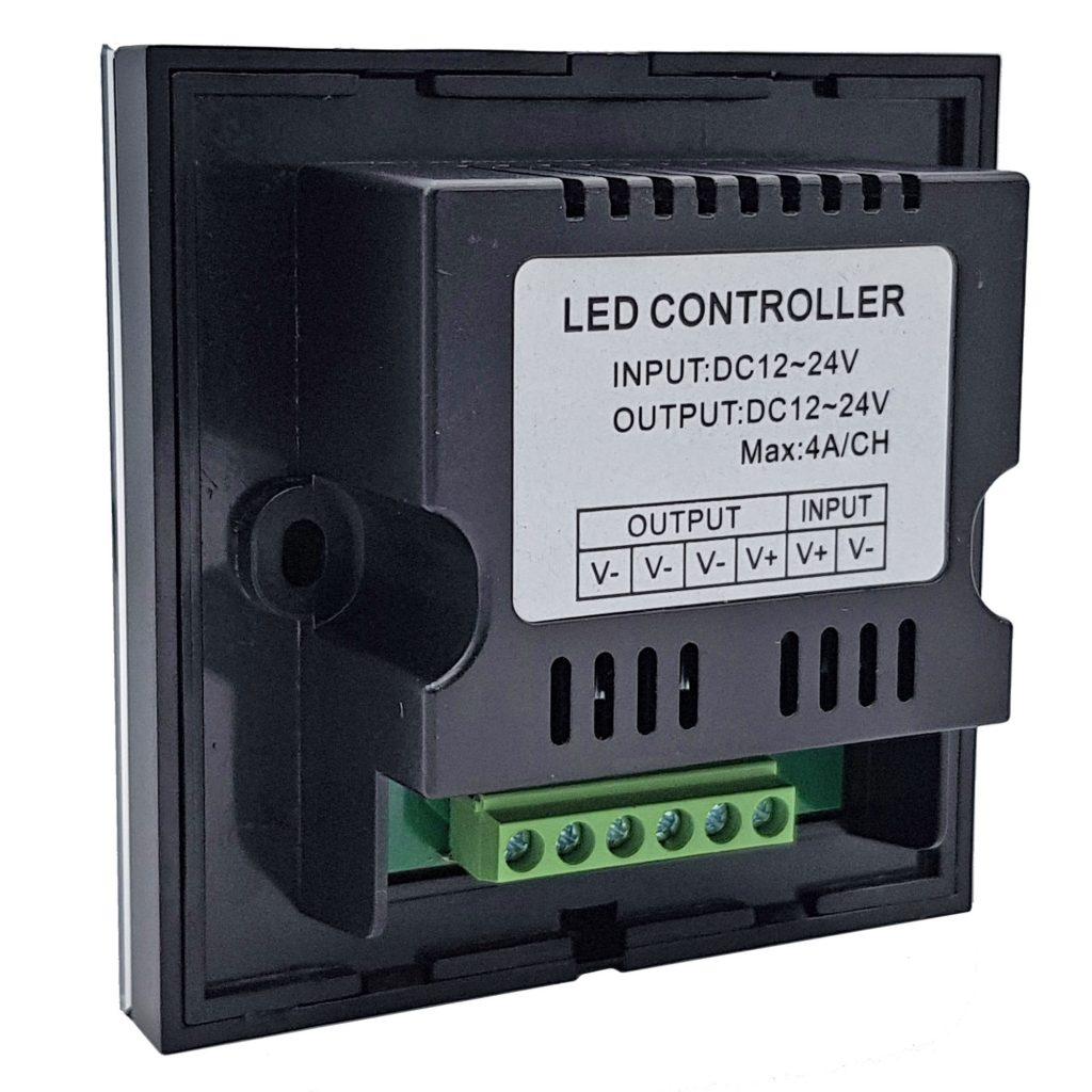 Dimmer cảm ứng điều khiển độ sáng led 12-24VDC TM06 màu đen