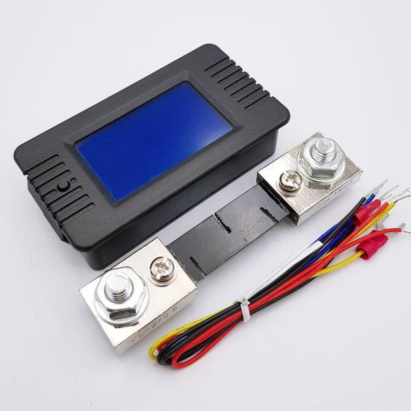 Đồng hồ đo dung lượng pin, điện áp, dòng điện, công suất DC PZEM-015 100A