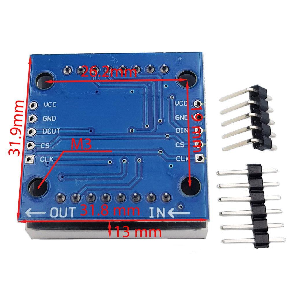 Module mạch hiển thị 1 Led ma trận - IC SMD