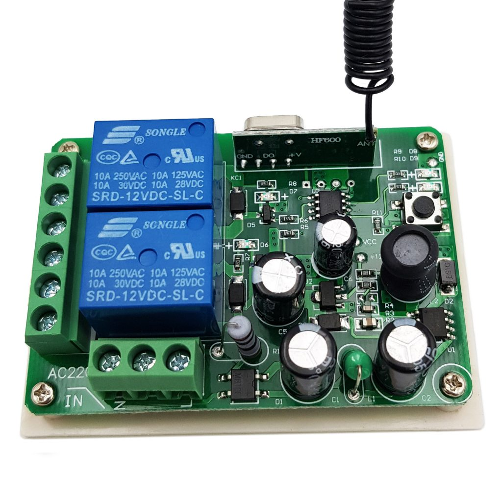 Bộ điều khiển RF 315Mhz 220V 2 kênh (Không kèm remote)