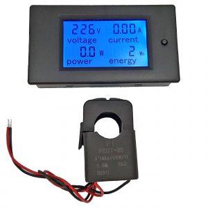 Đồng hồ đo dòng áp công suất mức năng lượng AC 100A