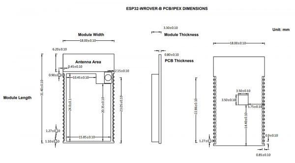 Mạch thu phát WIFI BLE soc ESP32 - WROVER-B