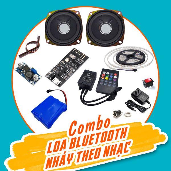 Combo tự chế loa bluetooth nháy theo nhạc V1