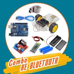 Combo tự làm xe 3 bánh bluetooth Arduino