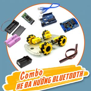 Combo xe đa hướng Arduino - Điều khiển bluetooth