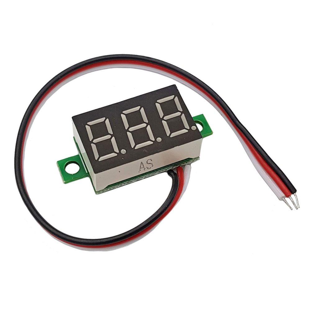 Đồng hồ đo áp 3 dây 30VDC màu đỏ