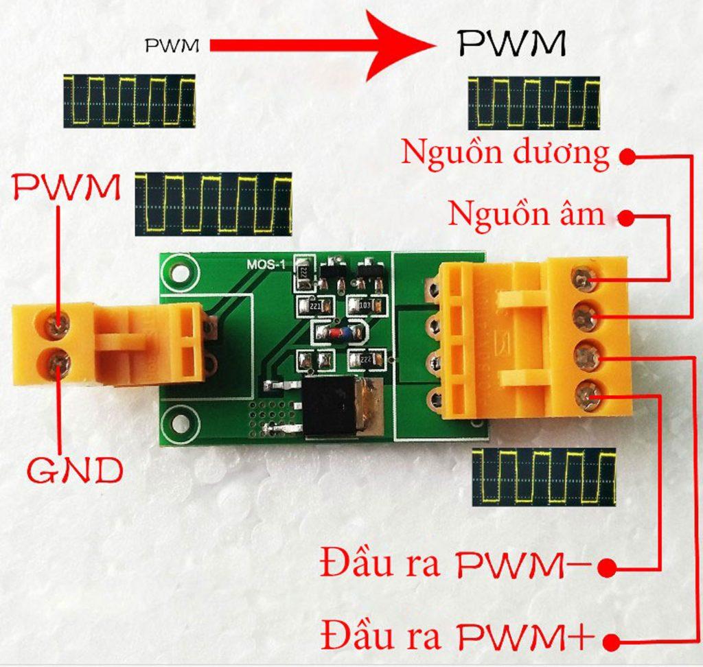 Sơ đồ cho Mạch công suất Mosfet 60N03 PWM
