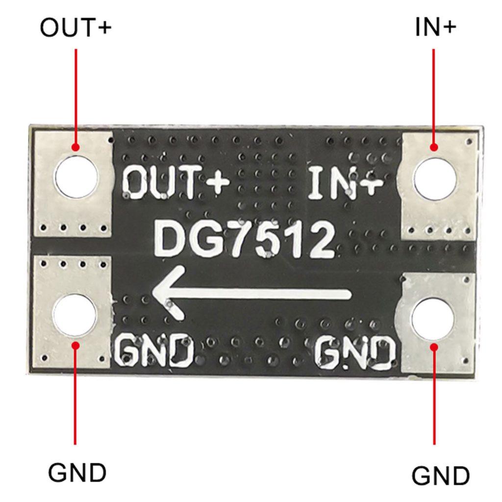 Sơ đồ của Mạch diode chống ngược DG7512 75V 12A