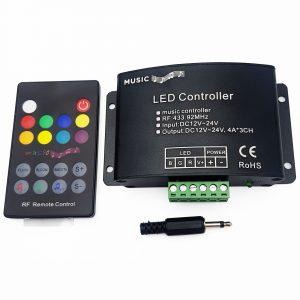 Bộ điều khiển LED RGB nháy theo nhạc 12-24VDC