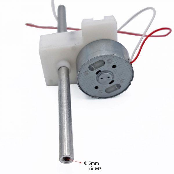 Động cơ giảm tốc 300 trục đôi chạy pin năng lượng mặt trời 10rpm