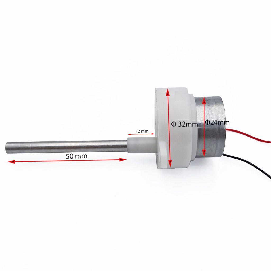 Động cơ giảm tốc 310 chạy pin năng lượng mặt trời 10rpm