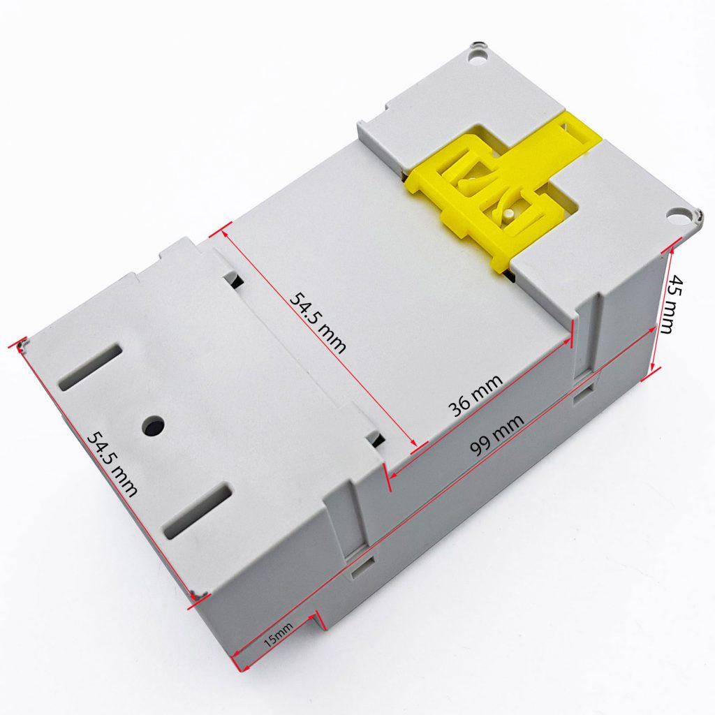 Kích thước của Timer hẹn giờ kỹ thuật số KG316T-II 220V - 25 A