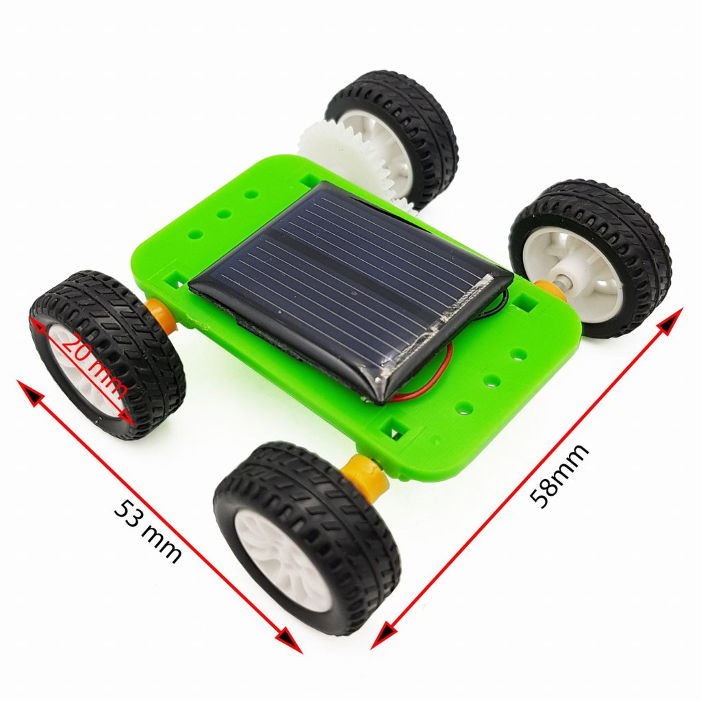Kích thước Mô hình xe năng lượng mặt trời mini