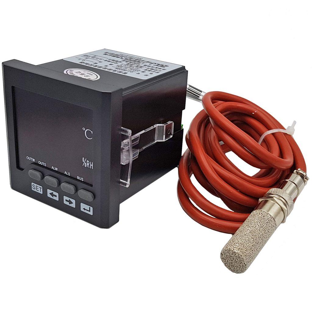 Bộ khống chế điều khiển nhiệt độ và độ ẩm CJ-602 với cảm biến vỏ bọc kim loại