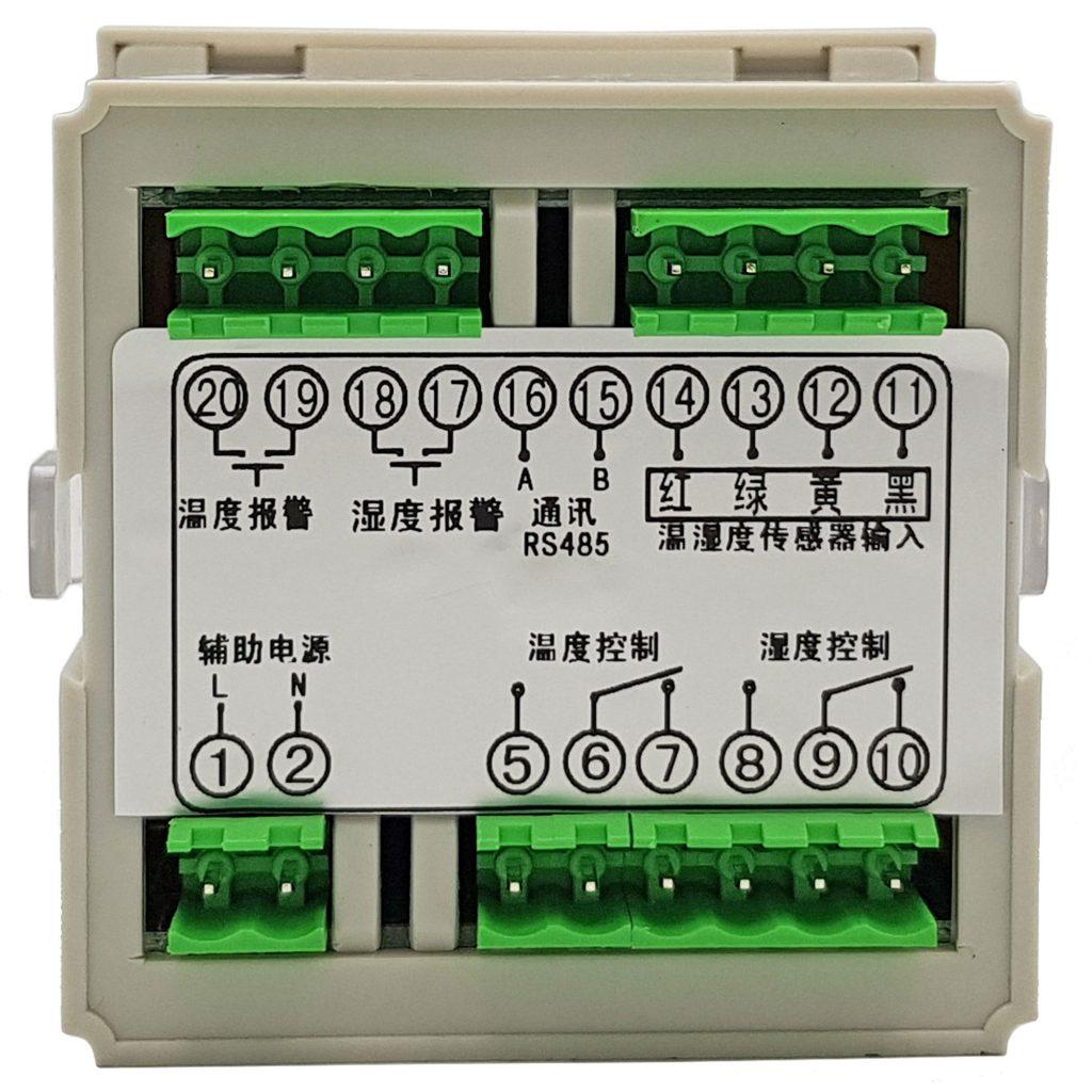 Bộ khống chế điều khiển nhiệt độ và độ ẩm CJ-602 với cảm biến vỏ bọc kim loại, có ngõ ra báo động