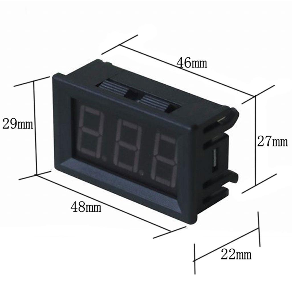 Kích thước Đồng hồ hiển thị điện áp, mức dung lượng Pin Acquy đa năng