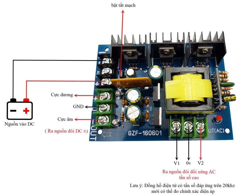 Sơ đồ mạch Module chuyển đổi nguồn DC ra nguồn đôi