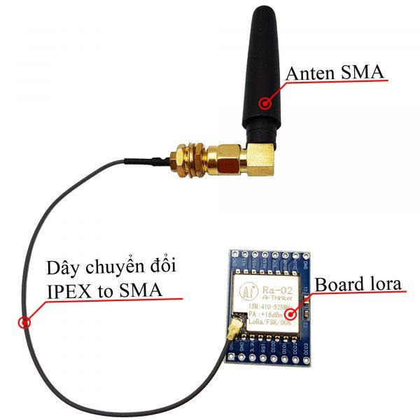 Anten RF đa hướng SMA tần số 433Mhz 3.5dBi