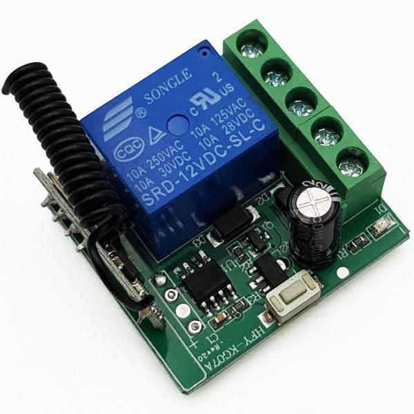 Bộ điều khiển thiết bị từ xa 1 kênh kèm remote 2 nút tần số 315Mhz