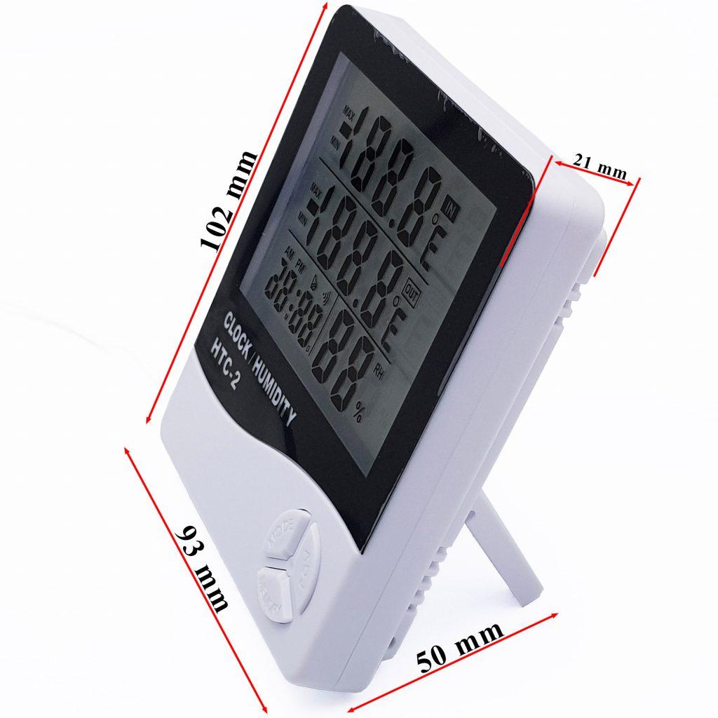 Kích thước Đồng hồ đo nhiệt độ và độ ẩm HTC-2