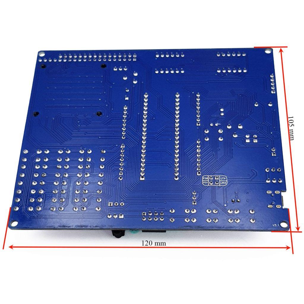 Kích thước Kit Học Tập Phát Triển 8051 đa chức năng