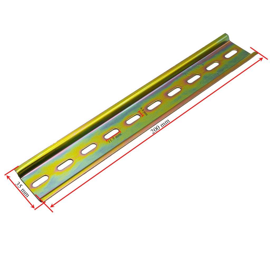 Kích thước Thanh ray cài thiết bị tủ điện 20cm-35mm