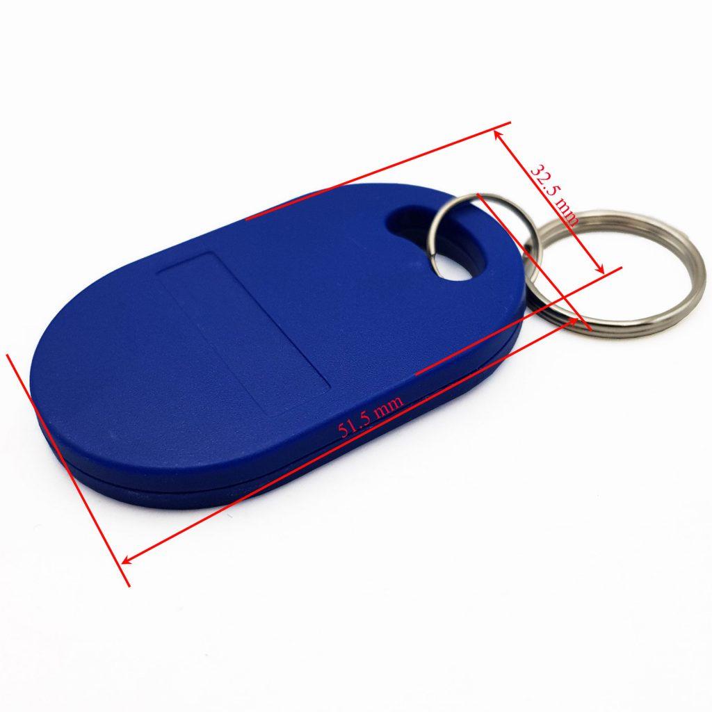 Kích thước Thẻ Từ RFID Móc Khóa Tần Số Kép 13.56Mhz, 125Khz Sao Chép Được