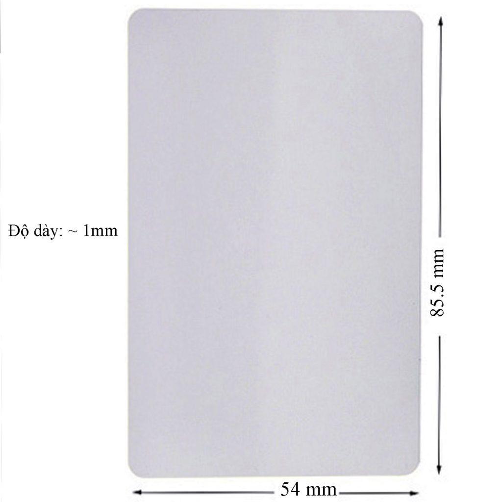 Kích thước Thẻ Từ RFID Trắng Tần Số Kép 13.56Mhz, 125Khz Sao Chép Được