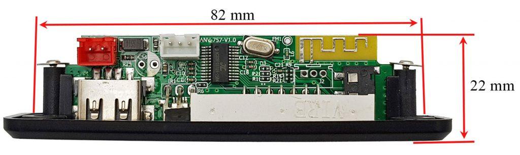 Kích thướci Mạch Giải Mã Âm Thanh Bluetooth FM 5.0 AVN-757