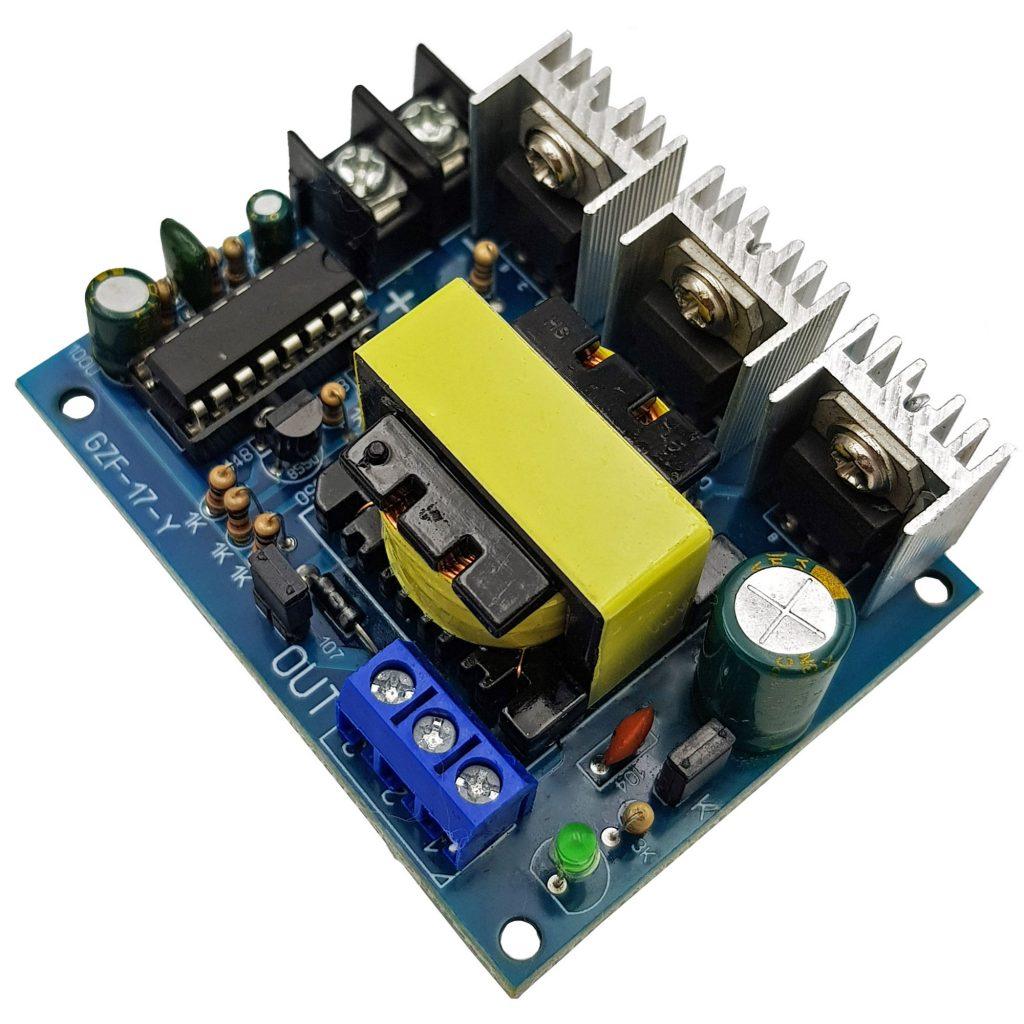 Mạch Inveter 12VDC ra 110V, 220VAC Sóng Vuông 15KHz