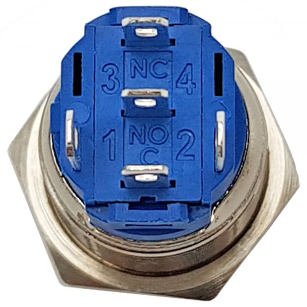 Nút nhấn nhả kim loại mặt lồi 16mm
