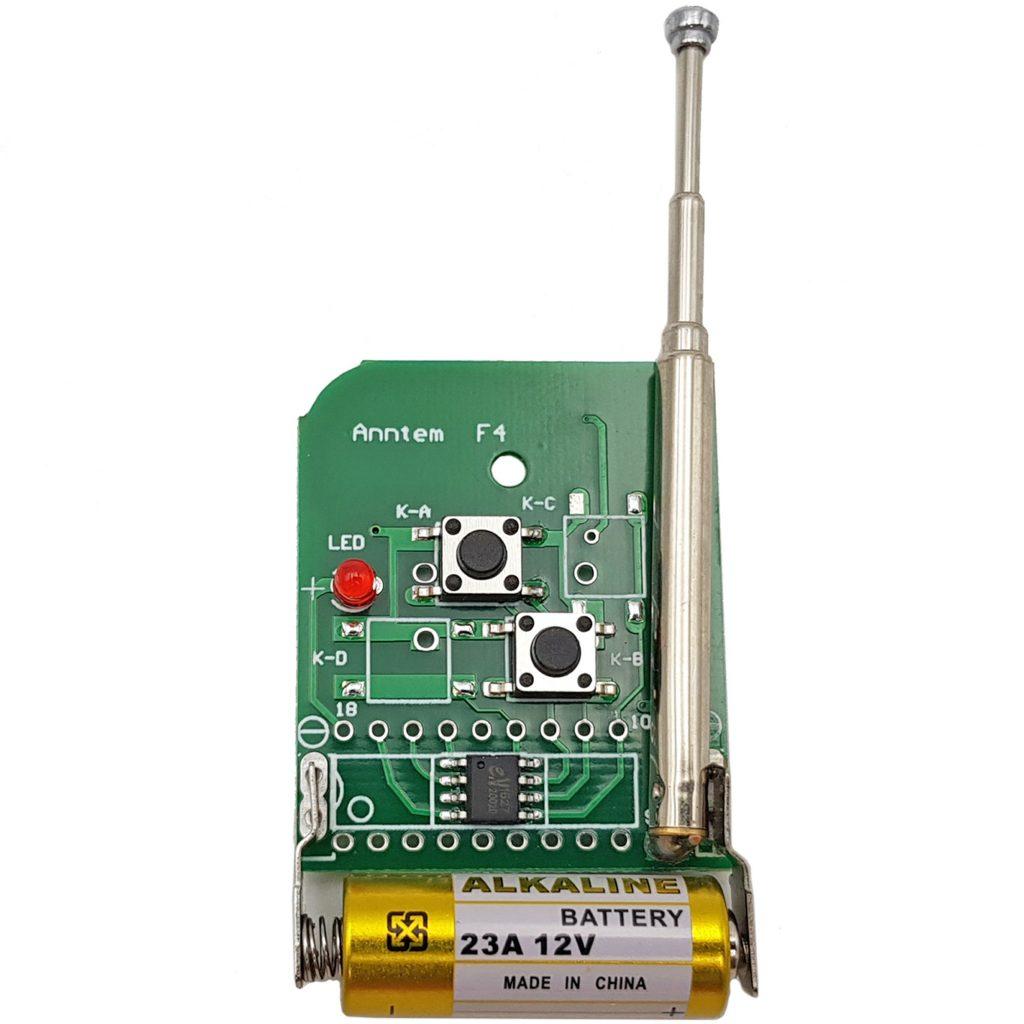 Remote 2 kênh AB mã cố định tần số 433mhz sử dụng IC EV1527
