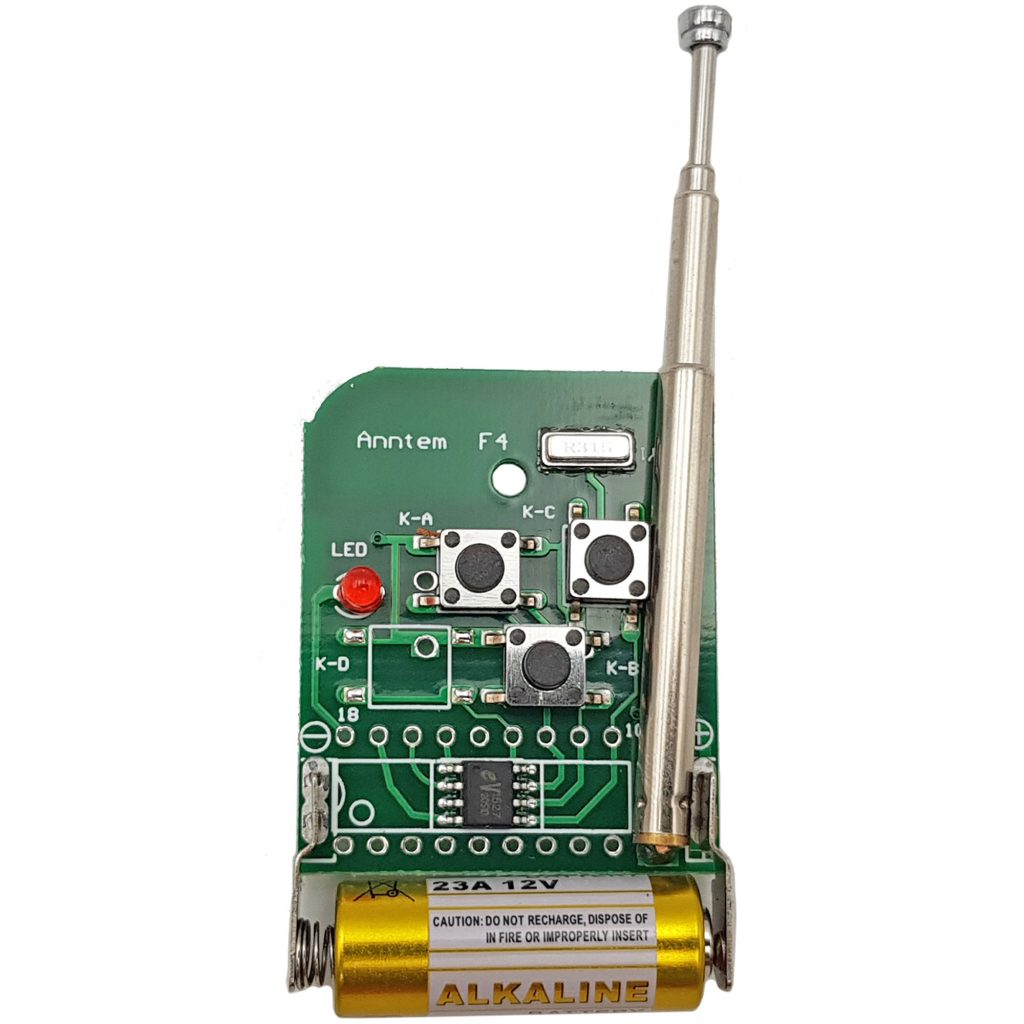 Remote 3 kênh ABC mã cố định tần số 315mhz sử dụng IC EV1527