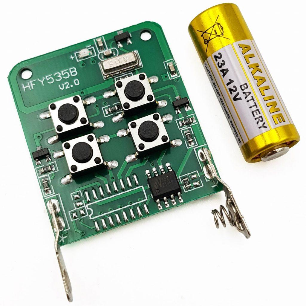 Remote 4 kênh mã cố định sử dụng IC EV1527 tần số 433Mhz và 315Mhz