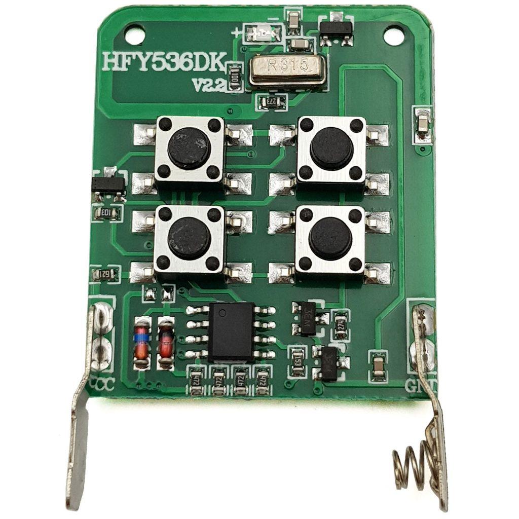 Remote 4 kênh sao chép mã hàn, mã gạt, mã cố định tần số 433Mhz, tần số 315Mhz