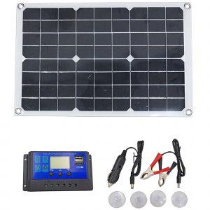 Tấm pin năng lượng mặt trời Mono 18V 40W kèm bộ điều khiển sạc