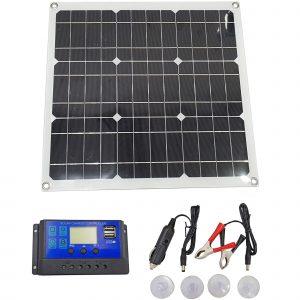Tấm pin năng lượng mặt trời Mono 18V 50W kèm bộ điều khiển sạc