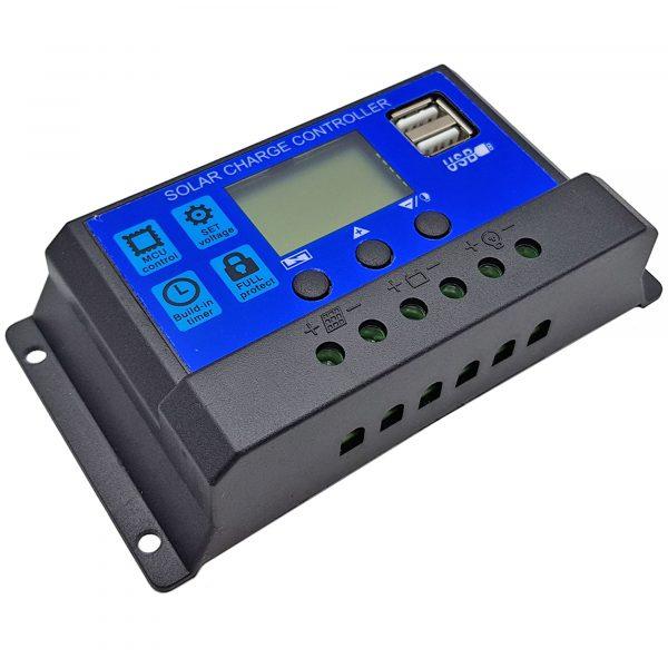 Tấm pin năng lượng mặt trời Poly 18V 15W kèm bộ điều khiển sạc