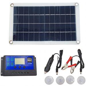 Tấm pin năng lượng mặt trời Poly 18V 30W kèm bộ điều khiển sạc