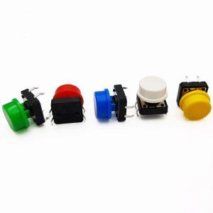 Bộ 5 nút nhấn 12 x 12 x 7mm 5 màu