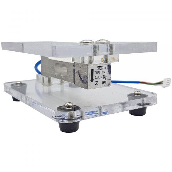 Bộ cảm biến cân nặng loadcell 40kg + khung bàn cân mica