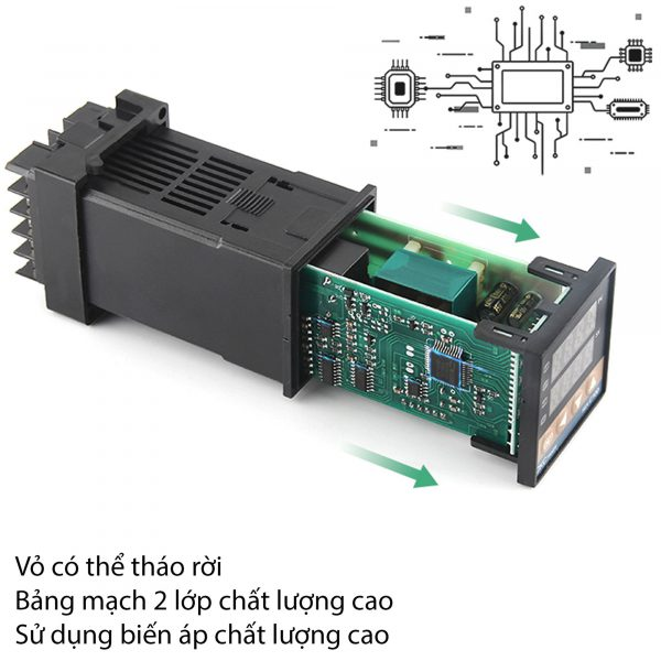 Bộ khống chế nhiệt độ 400 độ REX-C100 output SSR
