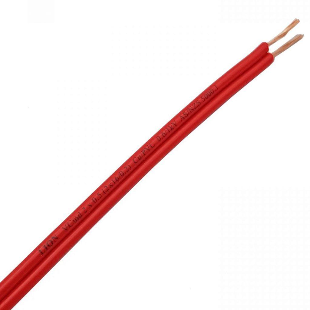 Dây điện đôi Lion VCmd 0.5 màu đỏ
