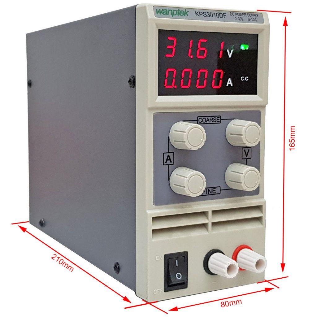 Kích thước Bộ nguồn đa năng WANPTEK KPS3010DF 30V 10A