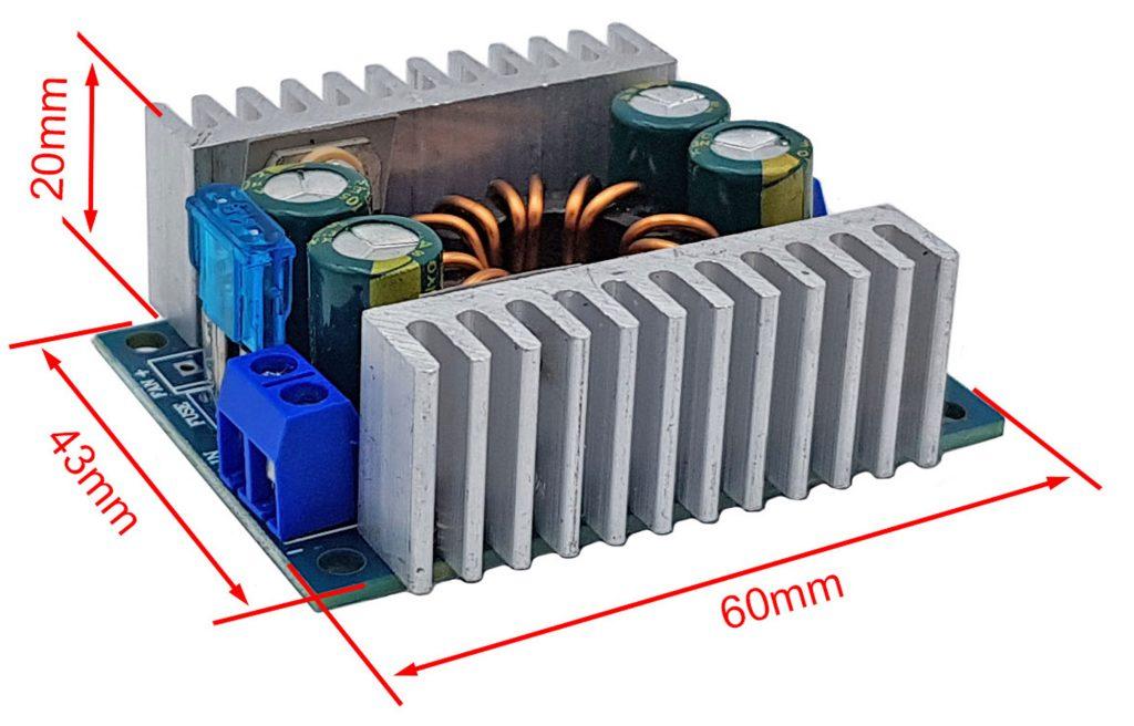 Kích thước Mạch tăng áp 150W V2