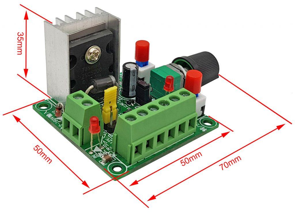 Kích thước Mạch tạo xung điều khiển driver động cơ bước 2SC5200