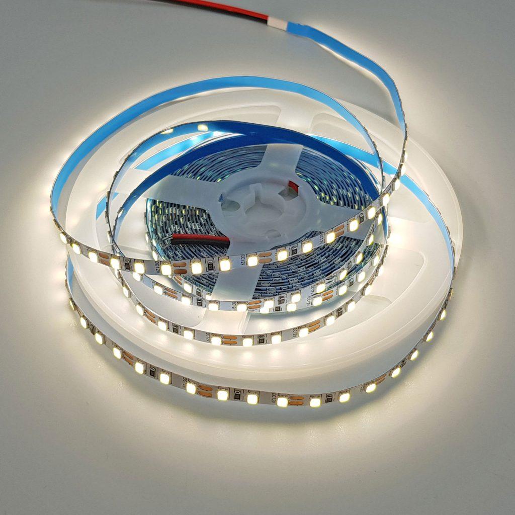 Led dây 2835 12V ánh sáng trắng 4000K 1 mét 120 bóng không phủ epoxy